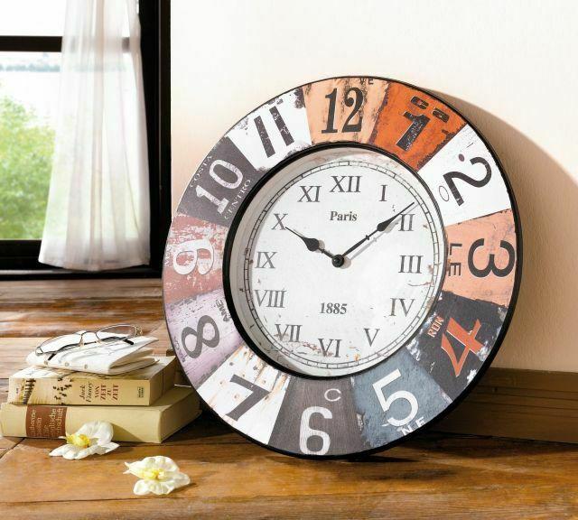 Grosse Wanduhr Paris Aus Holz O 50 Cm Kuchenuhr Dekouhr Uhr