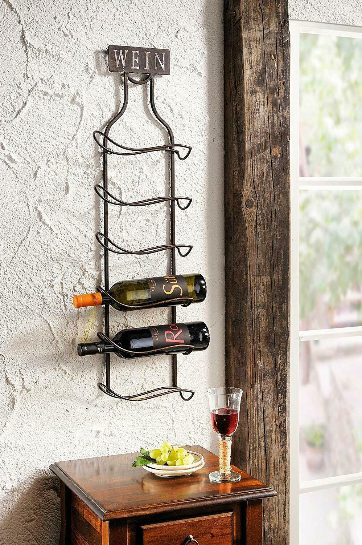 Wandregal Wein Aus Metall Rost Optik Wein Flaschen Halter