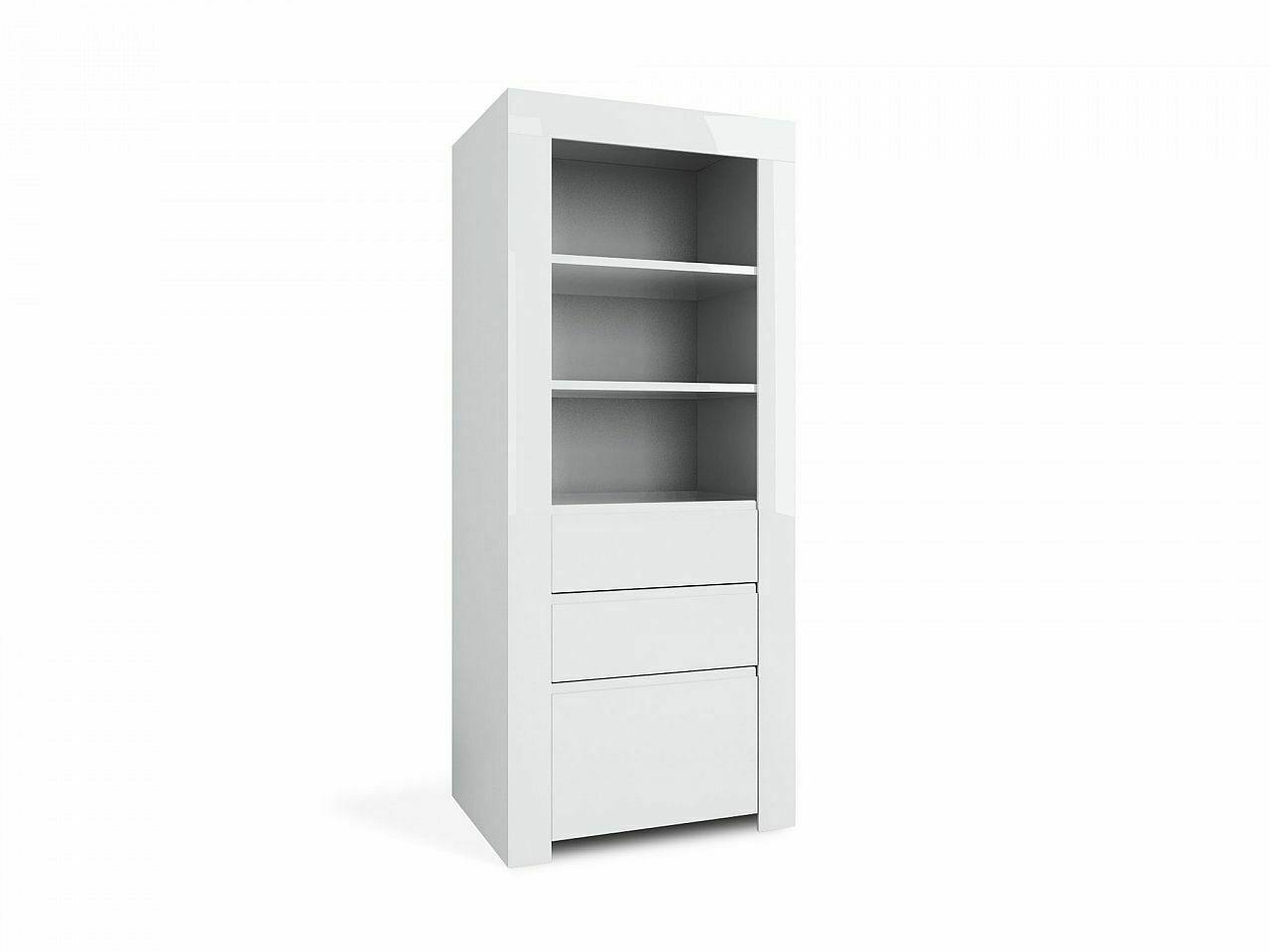 Design Schrank Amber 21 Weiss 1 Tur 2 Schubladen 3 Offene Regal Facher Kommode Kaufen Bei Come4buy Gmbh