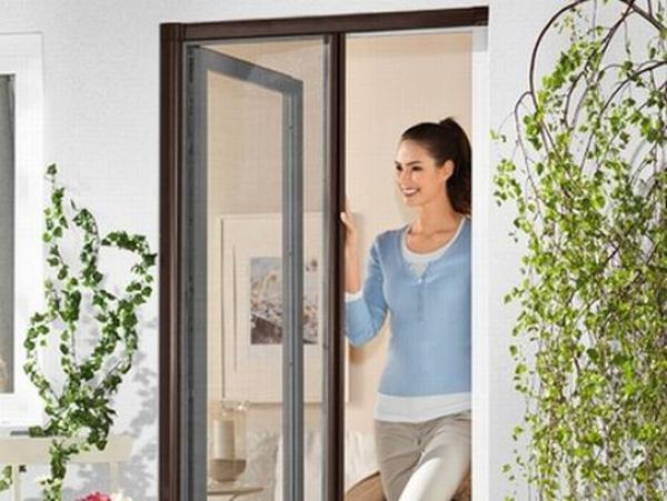 insekten schutz t r rollo anthrazit ohne alu rahmen braun 2 wahl fliegen gitter kaufen bei. Black Bedroom Furniture Sets. Home Design Ideas