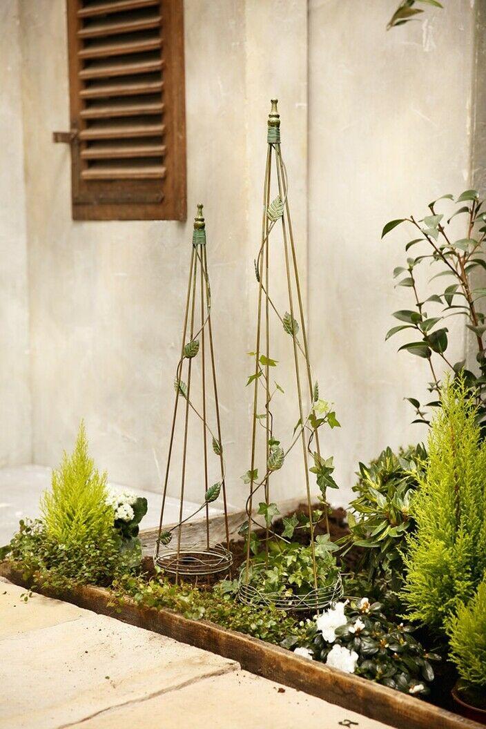 Garten-Obelisk Rank-Obelisk Rank-Hilfe Rosen-Gitter Preis für 2-er Set