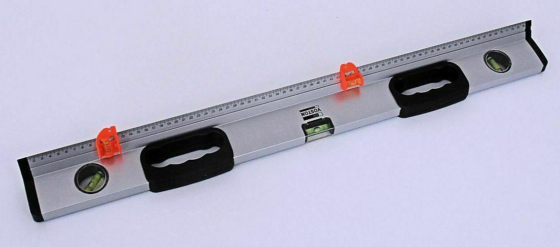 75cm mit Lineal und Markierungs Hilfe Profi Alu Wasserwaage mit 3 Libellen