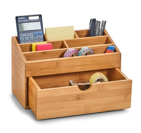 zeller bambus holz schreibtisch organizer schublade stift halter aufbewahrung kaufen bei. Black Bedroom Furniture Sets. Home Design Ideas