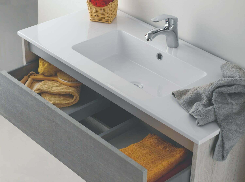 ital. Design Bad Möbel Set HAWAII Waschtisch + Unterschrank Spiegel  Beleuchtung