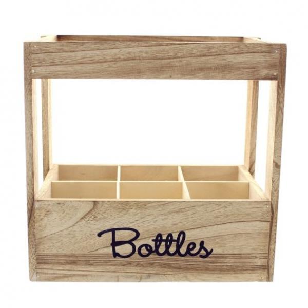 flaschenkiste 39 bottles 39 f r 6 flaschen paulownia holz kiste flaschenkorb neu kaufen bei. Black Bedroom Furniture Sets. Home Design Ideas