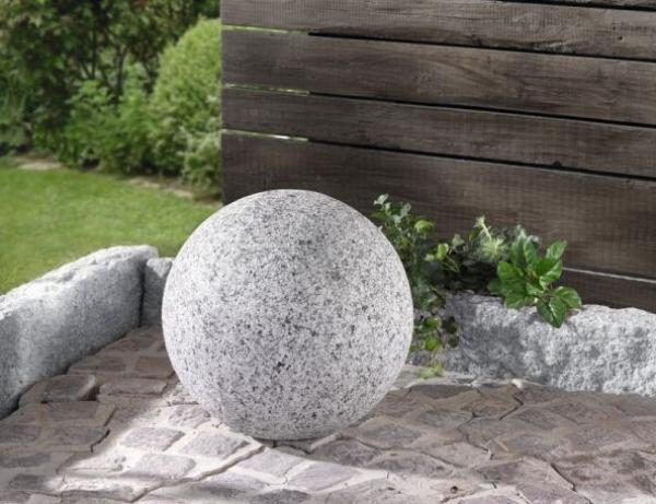 Deko Kugel Granit O 30 Cm Polystein Gartenkugeln Terrasse
