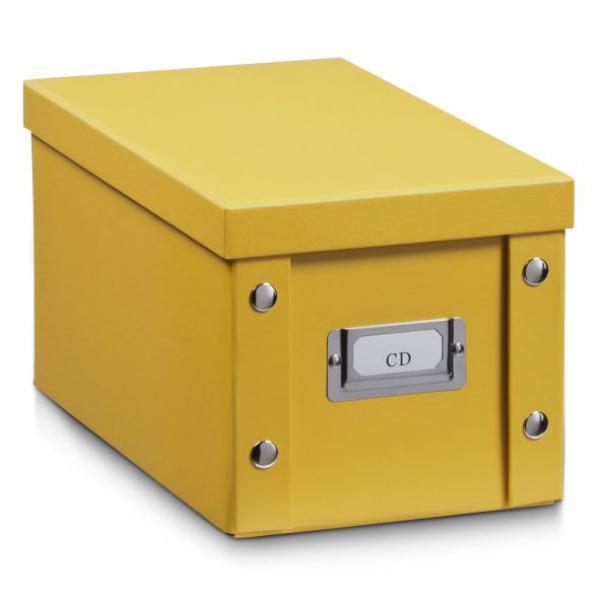 Cd Aufbewahrung 2x zeller cd box mit deckel mango für 20 cd s aufbewahrung kiste