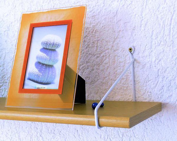 Regal Leiter System Alba Weiss 20x20 Neu Metall Wand Halter Halterung