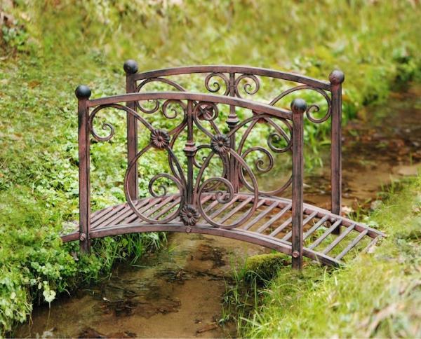 Gartendeko Metall deko brücke bachlauf metall gartenbrücke teichbrücke gartendeko