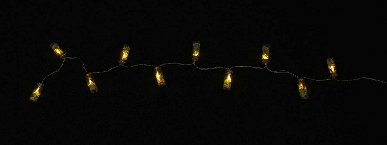 """Pflanze Steine LED Lichterkette /""""Sukkulente/"""" mit 10 warm weiß LED/'s im Glas"""