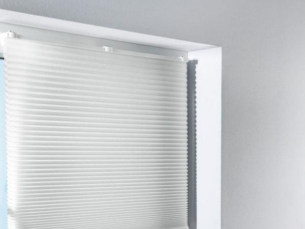 plisee rollo wei 90x130 cm ohne bohren stoff jalousie raff vorhang gardine kaufen bei. Black Bedroom Furniture Sets. Home Design Ideas