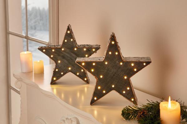 led stern 39 grey aus holz deko fenster stimmungs licht weihnachten weihnachts kaufen bei. Black Bedroom Furniture Sets. Home Design Ideas