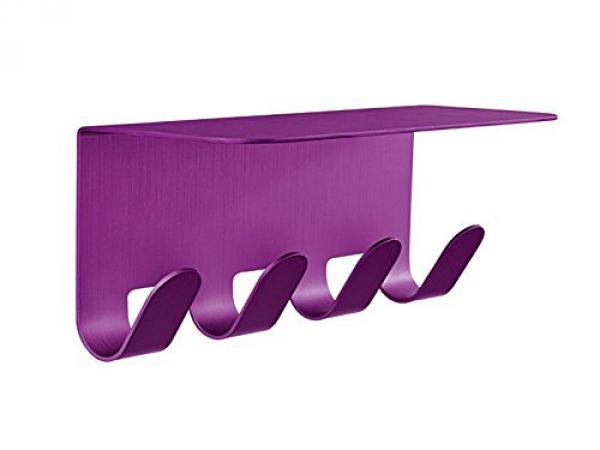 alu hakenleiste mit ablage lila ohne bohren regal. Black Bedroom Furniture Sets. Home Design Ideas