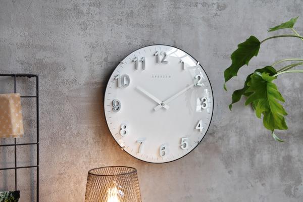 Metall Uhr \'Pure? Wand Deko Modern Küche Wohnzimmer batteriebetrieben
