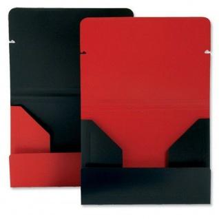 30x Rexel Dokumenten Mappe, rot schwarz, 150 Blatt Akten Papier Sammel Eckspann