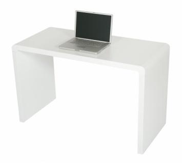 Design Computer Tisch von LEVV, weiß, 120x55 cm, Arbeits Büro Office Schreib