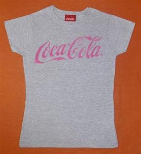 2x DAMEN T-SHIRT Coca Cola DAMENSHIRT grau Gr. S DOPPELPACK 100% BW