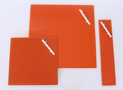 Glas Magnet Tafel orange 35x35 + Magnete + Stift Memo Schreib Board Pinn Wand