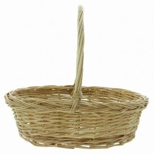 """Bügelkorb """" Naturweiß"""" aus Weide, Brot Obst Aufbewahrungs Geschenk Flecht Korb #1 - Vorschau 2"""