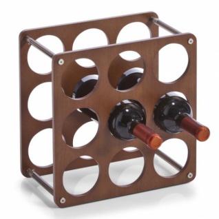 ZELLER WEINREGAL 9 Flaschen á 0, 7 L WEINFLASCHENHALTER WEINFLASCHENSTÄNDER NEU