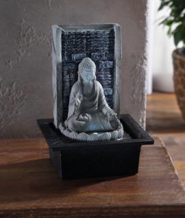 LED-BRUNNEN 'Buddha' BUDDHA-FIGUR DEKOBUDDHA DENKFIGUR BUDDHA FENG SHUI FIGUR