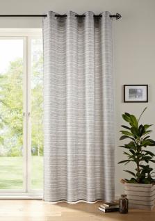 Deko Schal \'Light Grey? grau 245x140cm Fenster Vorhang Schlaufen Wohnzimmer
