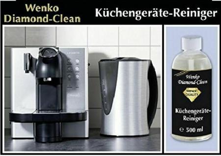 3x 500 ml WENKO Diamond Clean, Küchen Geräte Reiniger 1, 5 L Entkalker 6, 66€/L