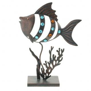 """Metall Deko ?Fisch"""" Tisch Garten Terrasse Objekt Figur Skulptur stehend"""