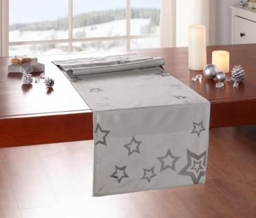 Tischläufer 'Modern Stars? Stern 40x140 cm Tisch Deko Band Deko Weihnachten Fest
