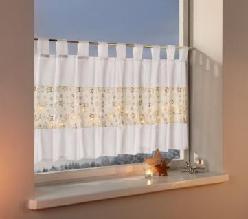 LED-Fenstervorhang 'Star Lights? 140x50cm Deko Schal Vorhang Licht Schlaufen