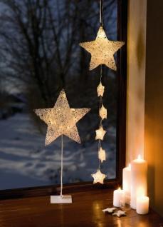 Led Sternenhänger Schneeweiß Fenster Deko Hänger Weihnachten