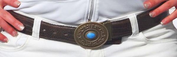 ECHT LEDER DAMEN GÜRTEL 105cm braun mit KOPPELSCHLIEßE NEU DAMENGÜRTEL