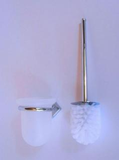 Design Wand WC Garnitur Edelstahl glänzend Toiletten Bürste Halter Garnitur