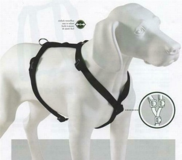 HUNTER Nylon Hunde Brust Geschirr Vario Ypsilon Gr. XXL rot Halsband