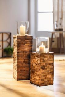 windlicht 39 trend look 39 gro aus holz mit glas einsatz kerzen teelicht halter kaufen bei. Black Bedroom Furniture Sets. Home Design Ideas