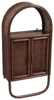 Bad Regal mit 2 Türen und Handtuch Stange, Ramin Holz braun, Wand Hänge Schrank