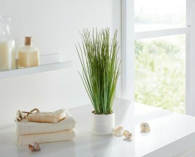 Kunstgras 30 cm hoch im Porzellan Topf, weiß Kunst Büro Pflanze Zier Schilf Gras