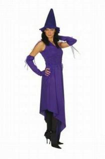 """Damen Karneval Faschings Kostüm """" Hexe"""" in lila, Kleid, Hut, Stulpen, bis Gr. 40"""