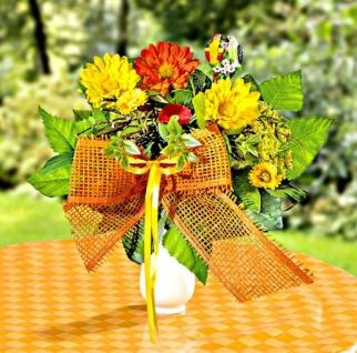 Deko Frühlings Sommer Blumenstrauss PAPAGEI Kunst Blumen Blüten künstlich Strauß