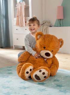 Teddybär 'Anton? 90 cm braun Bärchen Kinder Baby Soft Kuschel Plüsch Tier