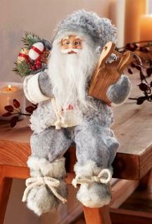 """Kantenhocker """" Schlittentour"""" 30 cm hoch Deko Weihnachtsmann Nikolaus Figur Santa"""