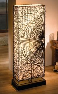 Design Standleuchte | Design Stehleuchte Sonne Aus Rattan Metall Deko Stehlampe