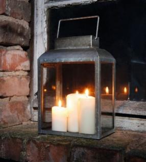 """Metall Laterne """" Basical Chic"""" Garten Windlicht Antik Optik Kerzen Halter Ständer"""
