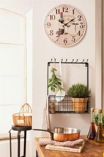 Metall Regal schwarz mit 8 Haken + großem Korb Hänge Wand Stand Bad Küche Garten