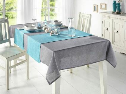 """Tafel Decke """" Melange"""" in grau, 135x240 cm, Tisch Tuch Wäsche, Lotus Effekt"""