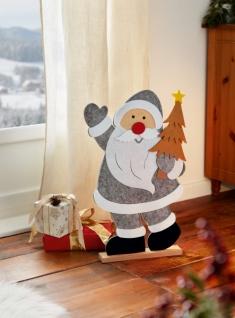 Deko Santa 'Filz?? Weihnachtsmann Weihnachtsdeko Deko Figur Nikolaus Textil