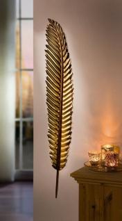 """Wandhänger """" Feder"""" aus Metall, gold, 99 cm hoch, Wand Deko Schmuck Hänger"""