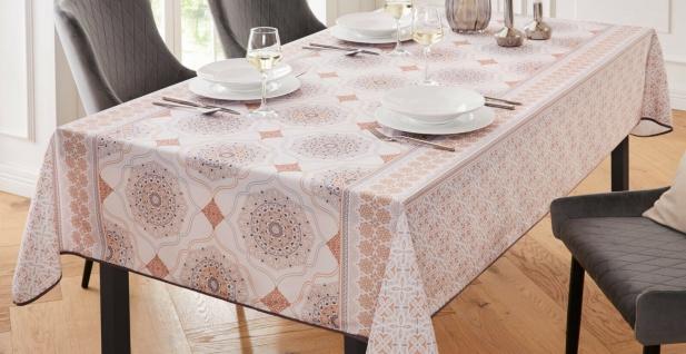 """Tafeldecke """" Mandala"""" 148x240 cm, weiß, Tisch Decke Tuch mit orientalischem Motiv"""