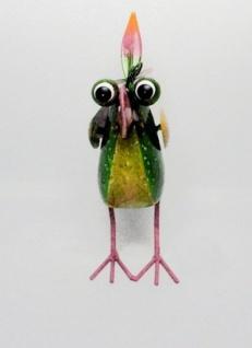 Figur Crazy Bird Klein Metall Bunt Vogel Tierfigur Garten Teich Dekoration Neu - Vorschau 4