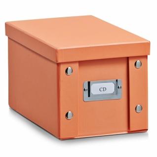 2x ZELLER CD BOX mit DECKEL Apricot für 20 CD's AUFBEWAHRUNG KISTE KARTON CASE